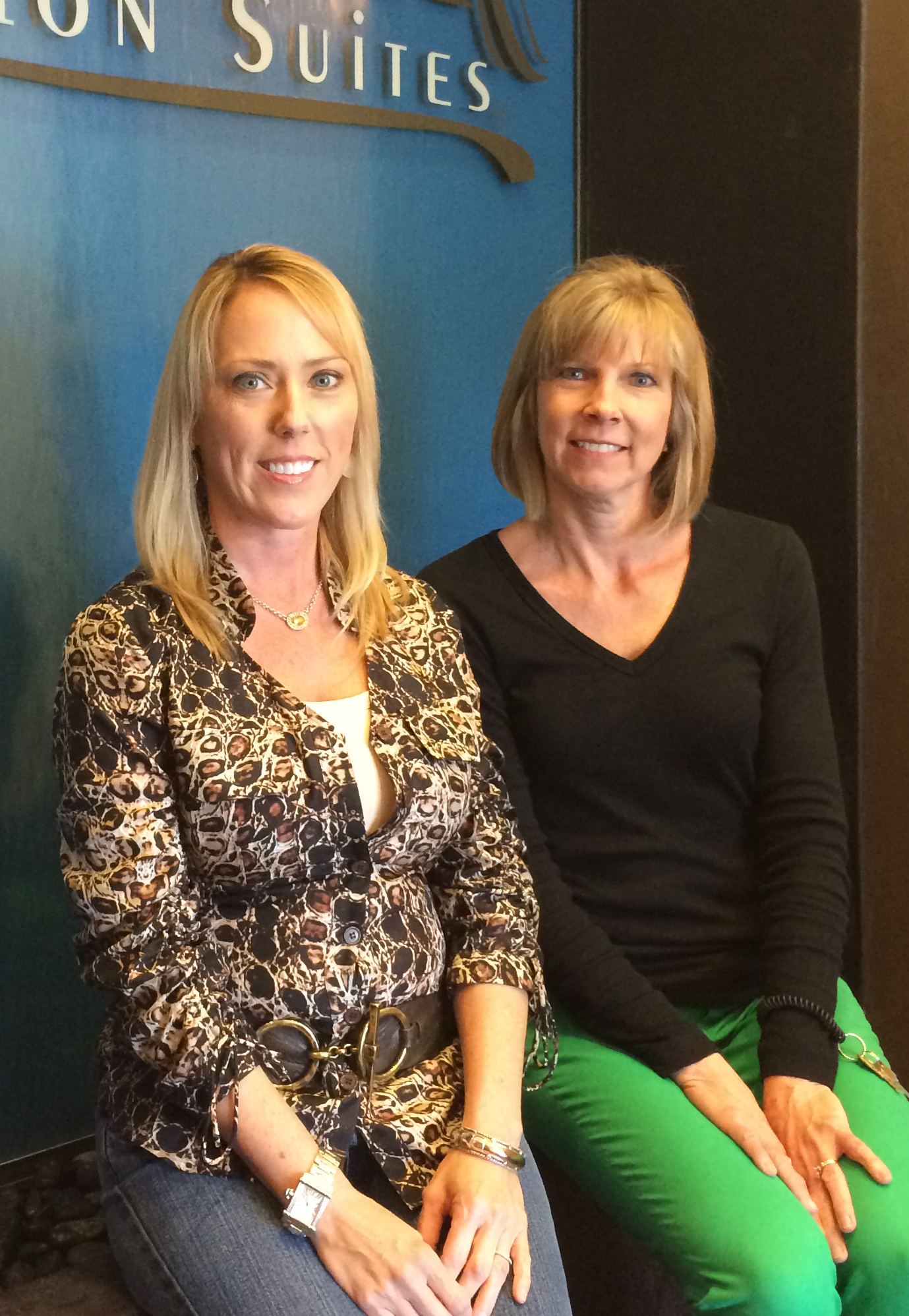 Betsy Owens, left, with Lake Mary franchise receptionist Sharon Brass.