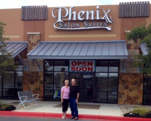 Sandra and Martin Palmer on their latest adventure, a Phenix Salon Suites in San Antonio, TX.