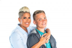 Gina Rivera and teen son Phenix