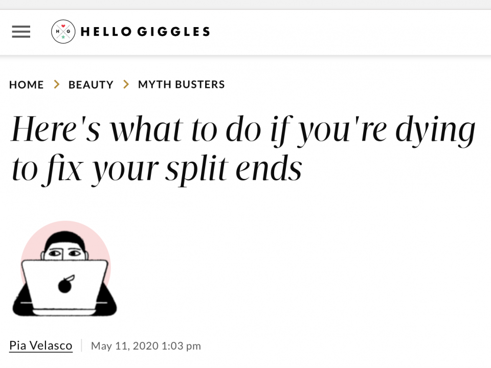 dying to fix your split ends